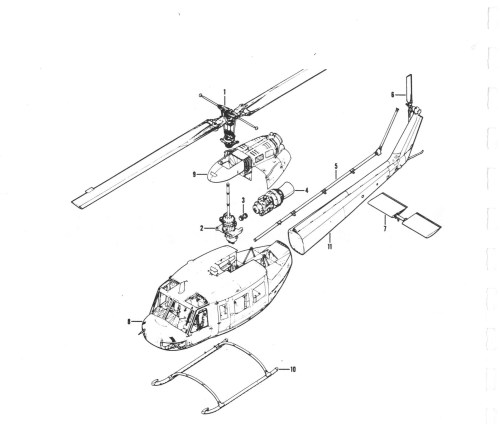 small resolution of bell model 205a 1 image downloads rh huey co uk helicopter main parts helicopter engine diagram