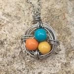 spring bird nest necklace