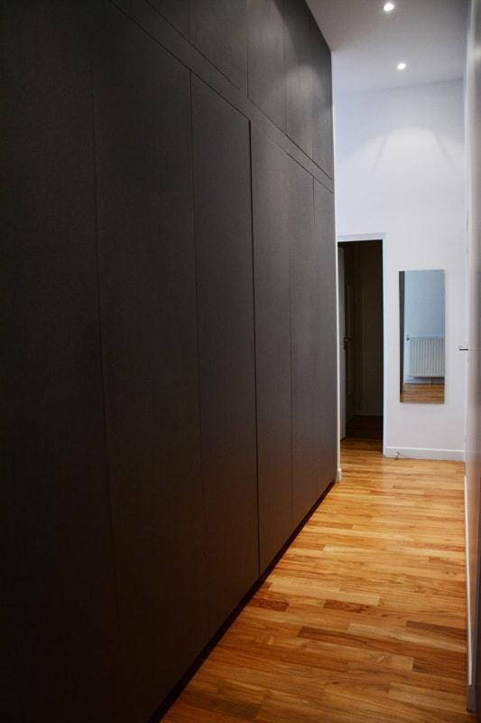 Création d'un couloir pour joindre les 2 appartements