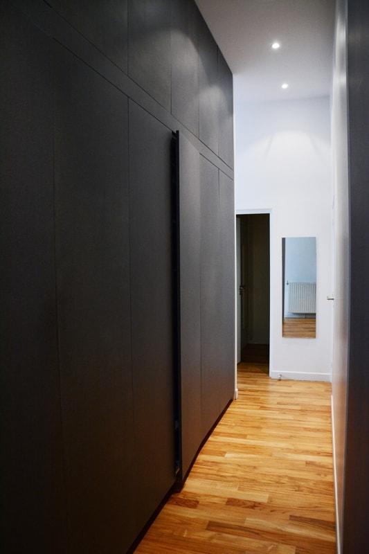 Optimisation du couloir avec des placards