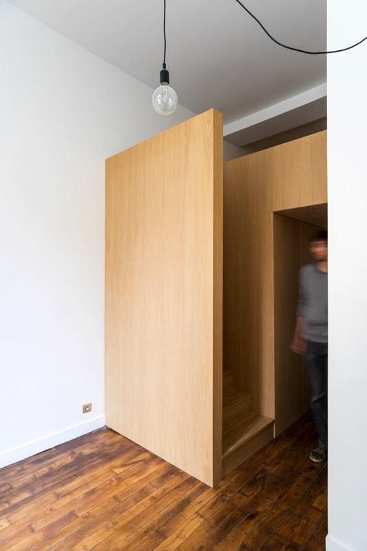Aménagement d'un studio avec mezzanine