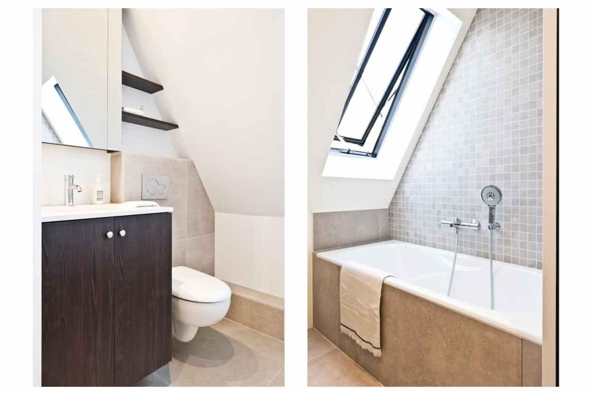 Salle de bain WC sous pente
