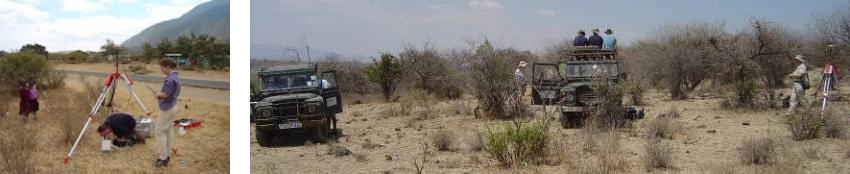 Surveying between Kitumbeine and Gelai