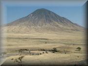 Ol Doinyo Lengai from The Sunken Crater - Loolmurwak