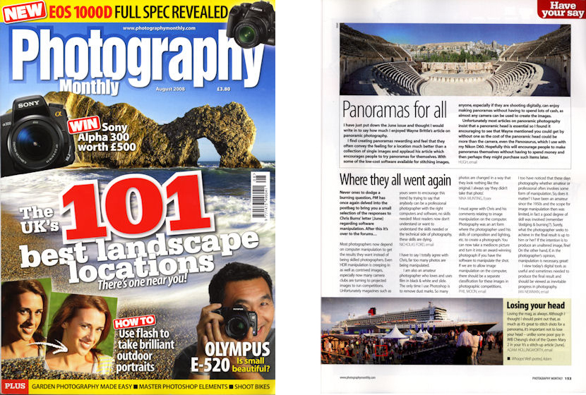 Photography Monthly August 2008
