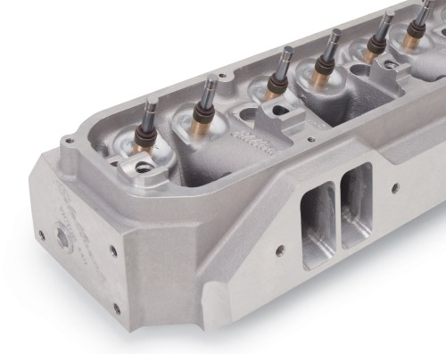 small resolution of big block edelbrock victor heads max wedge size intake ports hughes 4658 edelbrock 77949
