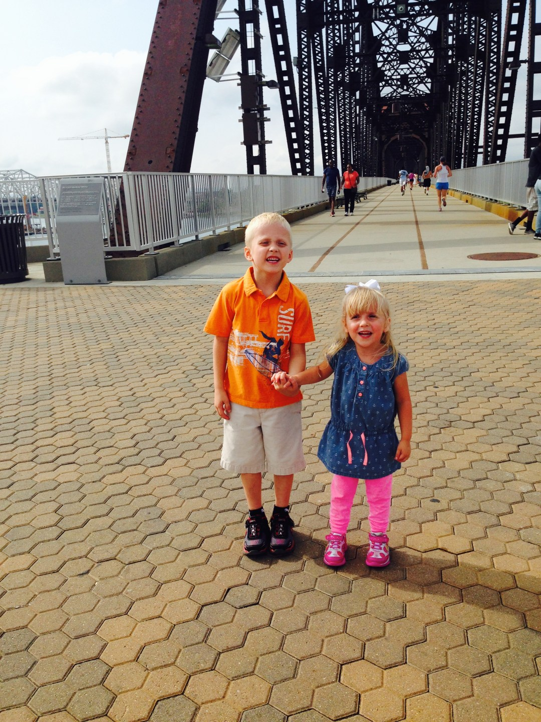 Dr. Hughes' children on the Big Four Bridge