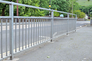 Pedestrian Guardrails High Visibility Guardrails