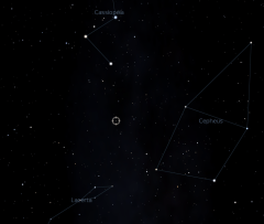 Position of HD219134 in Stellarium