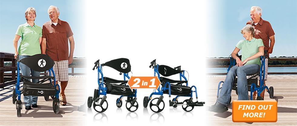 hugo navigator walker transport chair swivel tub hugo® – go anywhere!