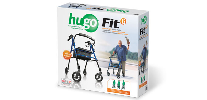 hugo navigator walker transport chair tempur pedic office tp8000 reviews fit 6 rolling – mobility