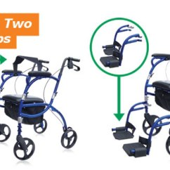 Walker Transport Chair In One Hugo Navigator Eddie Bauer High Target Rolling Mobility Converts Two Simple Steps