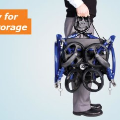 Hugo Navigator Walker Transport Chair Booster Or High Rolling Mobility Folds Easily For Compact Storagewidth