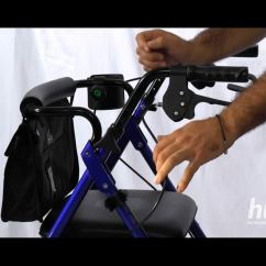 Walking Cane Seat Chairs Target Outdoor Lounge Chair Cushions How To Adjust The Handles Of Your Hugo Rolling Walker – Mobility