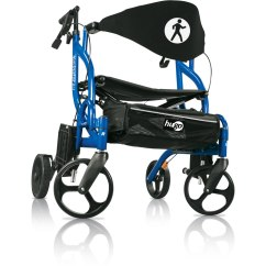 Walker Transport Chair In One Hugo Navigator Small Space Table And Chairs Rollator Mobility Mode