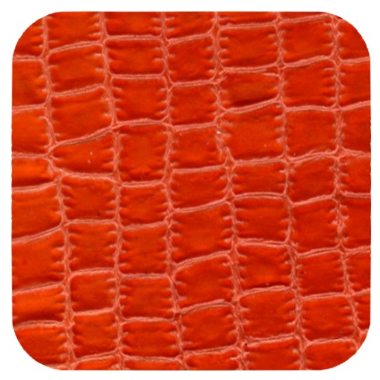 orange croc leather