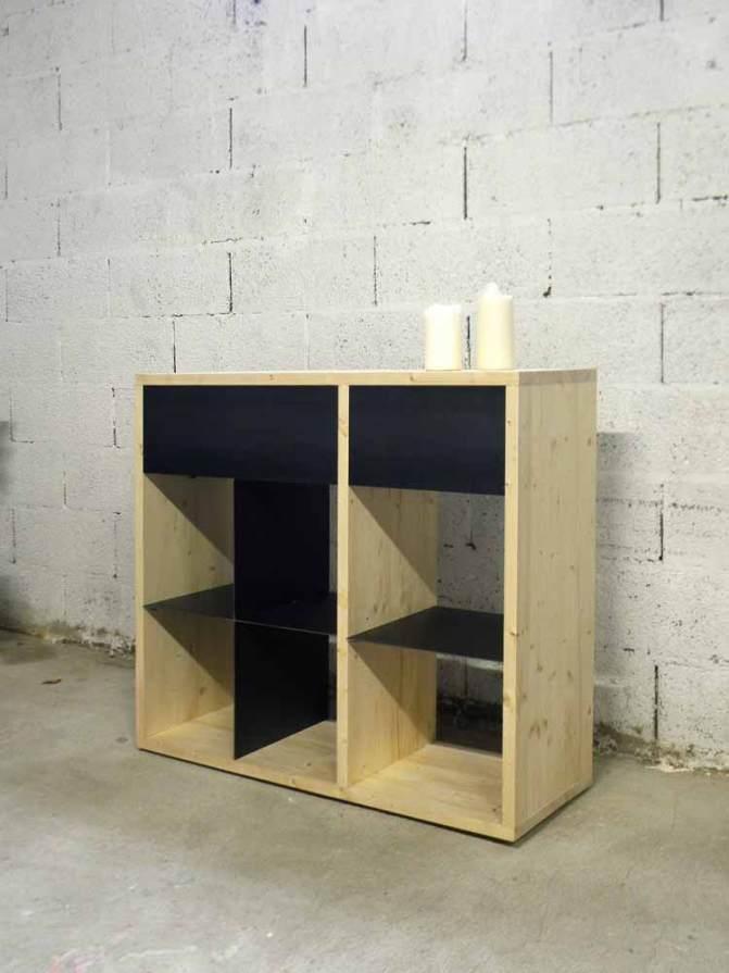 Création de mobilier sur-mesure - bois / acier - hugo ferronnerie