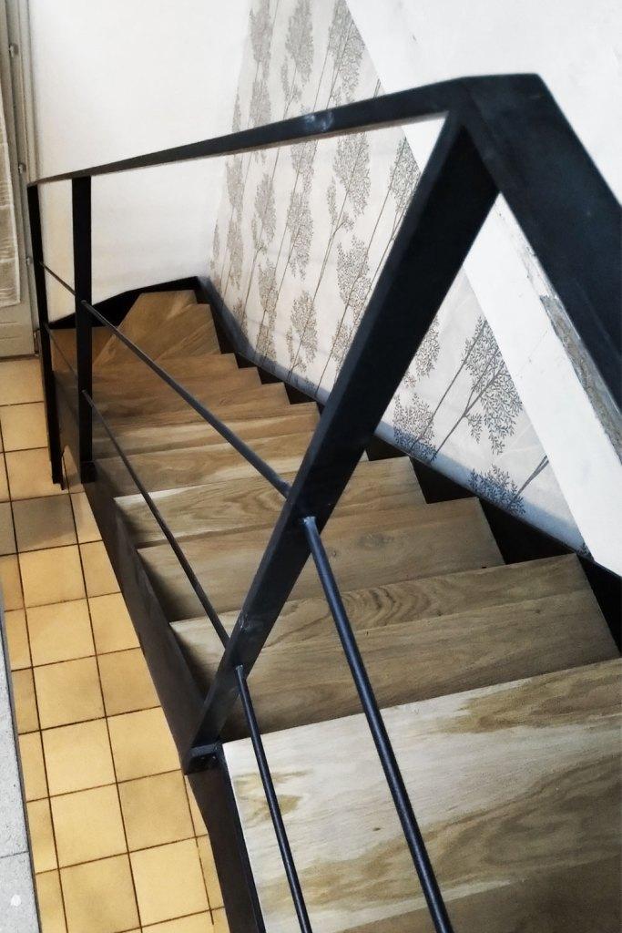 Escalier double limon avec garde-corps - Lyon 69