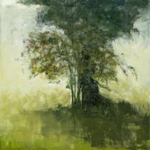 """<h5>Contre-jour</h5><p>Oil on canvas, 59¼"""" x 59¼""""</p>"""