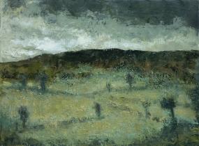 "<h5>Colline auvergnate</h5><p>Oil on canvas, 23½"" x 31¾""</p>"