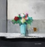 """<h5>Fleurs</h5><p>Oil on canvas, 15 ¾ x 15 ¾"""" (40 x 40cm)</p>"""