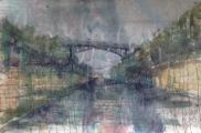 "<h5>Route 80 East</h5><p>Watercolor on paper, 40"" x 60"" (101.5 x 152.5cm)</p>"