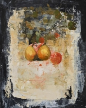 """<h5>Still Life I</h5><p>Oil and wax on canvas, 19¾"""" x 15¾""""</p>"""