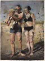 """<h5>Le couple et l'enfant</h5><p>Pastel on paper, 31½"""" x 42½"""" (80 x 108cm)</p>"""