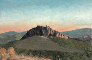 "<h5>Castillo de Pruna-8</h5><p>Oil on Canvas, 38¼""  x 57½""</p>"