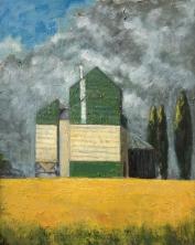 """<h5>Le silo</h5><p>Oil on Canvas, 36¼"""" x 28¾""""</p>"""