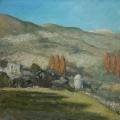 "<h5>Albert Hadjiganev ""Entre Pruna y Olvera""</h5><p>Oil on Canvas 39¼"" x 39½""</p>"