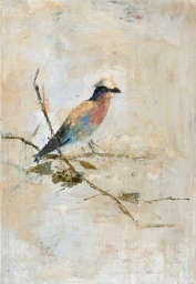 """<h5>Swallow Bird</h5><p>Oil and wax on canvas, 28¾"""" x 19¾""""</p>"""