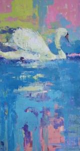 "<h5>No Sense of Time</h5><p>Oil on canvas, 60 x 32"" (152 ½ x 81 ¼cm)</p>"