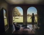 "<h5>Pour Les Arbres</h5><p>Oil on canvas, 57½"" x 45"" (146cm x 114.3cm)</p>"