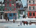 """<h5>Rue des Deux Ponts</h5><p>Acrylic on board, 10 ½"""" x 14"""" </p>"""