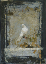 "<h5>Bird</h5><p>Digigraph: Monoprint with oil and wax on board, 45 ½ x 35"" (116 x 89cm)																																																																																																																																																																																																																																											</p>"