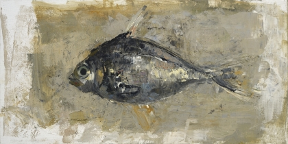 """<h5>Fish</h5><p>Digigraph: Monoprint with oil and wax on board, 23½"""" x 47""""</p>"""