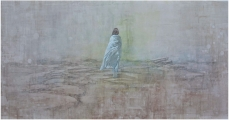 """<h5>The Geography of Hope</h5><p>Acrylic on canvas, 48 x 100"""" (122 x 254cm)</p>"""