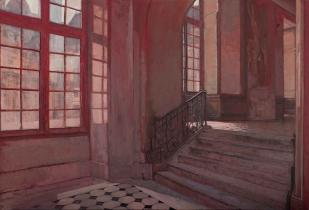 """<h5>Fontainebleau</h5><p>Oil on Canvas. 40"""" x 59"""" (101.5 x 150cm)</p>"""