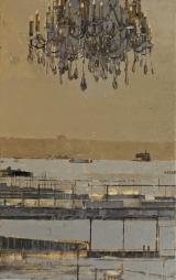 """<h5>Paysage avec Lustre</h5><p>Oil on Canvas. 29"""" x 46"""" (74 x 117cm)</p>"""