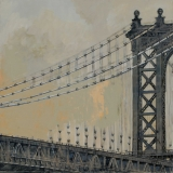 """<h5>Le Pont de Manhattan</h5><p>Oil on Canvas. 39"""" x 39"""" (99 x 99cm)</p>"""