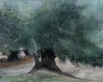 "<h5>L'oliveraie</h5><p>Oil on canvas, 63"" x 78¾"" (160 x 200cm)</p>"