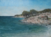 "<h5>Souvenir de Bandol</h5><p>Oil on canvas, 23½"" x 31¾"" (60 x 81cm)																																																																				</p>"
