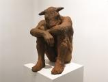"<h5>Sitting Minotaur</h5><p>Resin–iron oxide, 15 ½ x 14 x 10"" (39.4 x 35.5 x 25.4cm)</p>"