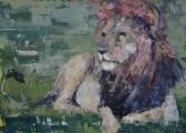 "<h5>Show me how to do it</h5><p>Oil on canvas, 14½"" x 20"" (36.8 x 50.8cm)</p>"