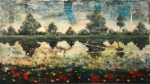 """<h5>Memories III</h5><p>Acrylic and oil on canvas, 47¼"""" x 85"""" (120 x 216cm)</p>"""