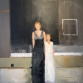 """<h5>Mother & Daughter</h5><p>Oil on canvas, 31¼"""" x 31¼"""" (79.3 x 79.3cm)</p>"""