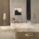 "<h5>Interior</h5><p>Oil on canvas, 31¼"" x 31¼"" (79.3 x 79.3cm)</p>"
