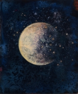 "<h5>Lunaison I</h5><p>Pure pigment, marble powder, and acrylic on board, 11 ¾"" x 10"" (29.9 x 25cm)																	</p>"