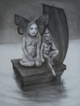 """<h5>The Bright River</h5><p>Charcoal on paper, 50 x 38"""" (127 x 97cm)</p>"""